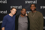 Will Pullen, Lance Coadie Williams and Khris Davis attend the photocall for the Broadway cast of 'Sweat'  at The New 42nd Street Studios on 2/16/2017 in New York City.