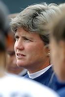April Heinrichs, USA National Team Head Coach , USWNT vs Canada April 26, 2003.