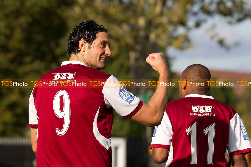 Jamie Slabber celebrates his second goal for Chelmsford City - Cray Wanderers vs Chelmsford City - FA Cup 3rd Qualifying Round Football at Bromley Football Club - 06/10/12 - MANDATORY CREDIT: Ray Lawrence/TGSPHOTO - Self billing applies where appropriate - 0845 094 6026 - contact@tgsphoto.co.uk - NO UNPAID USE.