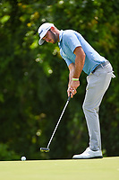 Max Homa (USA) watches his putt on 7 during round 2 of the 2019 Charles Schwab Challenge, Colonial Country Club, Ft. Worth, Texas,  USA. 5/24/2019.<br /> Picture: Golffile   Ken Murray<br /> <br /> All photo usage must carry mandatory copyright credit (© Golffile   Ken Murray)