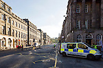 Police Scotland incident, Waterloo Place and Calton Hill<br /> <br /> Image by: Malcolm McCurrach<br /> Thu, 23, April, 2015. &copy; Malcolm McCurrach 2015. All rights Reserved. picturedesk@nwimages.co.uk | www.nwimages.co.uk | 07743 719366