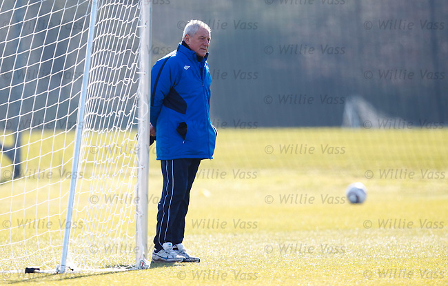 Walter Smith enjoying the sunshine