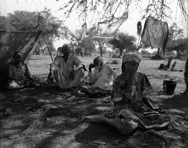 Chadian displaced persons who have fled an attack by militia and rebels, UNHRC's Habile Camp, south eastern Chad near Sudan border, April 2007