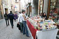 Passeggiata nel centro di Alba.<br /> Street scene in downtown Alba.<br /> UPDATE IMAGES PRESS/Riccardo De Luca