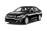 2015 Subaru Impreza premium 4 Door Sedan angular front stock photos of front three quarter view