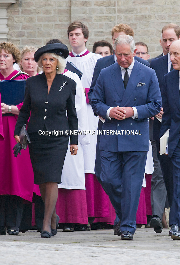ROYALS ATTEND HUGH VAN CUTSEM FUNERAL<br /> Princes Charles, William and Harry, Camilla, Duchess of Cornwall, and the Duke and Duchess of Gloucester attended a Requiem Mass for close friend Hugh Van Cutsem at Brentwood Cathedral, Brentwood_11/09/2013<br /> Mandatory Credit Photo: &copy;Dias/NEWSPIX INTERNATIONAL<br /> <br /> **ALL FEES PAYABLE TO: &quot;NEWSPIX INTERNATIONAL&quot;**<br /> <br /> IMMEDIATE CONFIRMATION OF USAGE REQUIRED:<br /> Newspix International, 31 Chinnery Hill, Bishop's Stortford, ENGLAND CM23 3PS<br /> Tel:+441279 324672  ; Fax: +441279656877<br /> Mobile:  07775681153<br /> e-mail: info@newspixinternational.co.uk