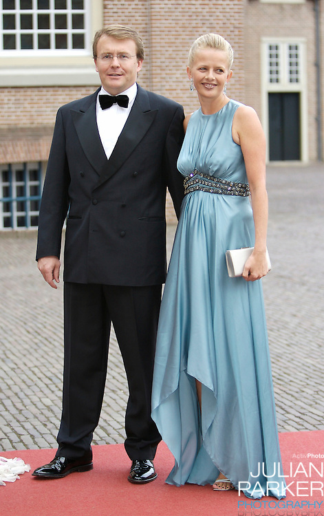 Prince Johan Friso and Princess Mabel of Holland arrive  for a Reception at Het Loo Palace in Apeldoorn, to celebrate the 40th Birthday of Crown Prince Willem Alexander, The Prince turned forty in April earlier this year.