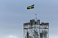2018 01 04 St David's flag at St Peter's Church, Carmarthen, UK