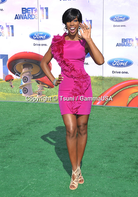 Kelly Rowland  arriving at the BET Awards 2011 at the Shrine Auditorium In Los Angeles.