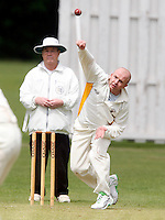 A Carr bowls for Bessborough during the Middlesex County Cricket League Division Three game between North London and Bessborough at Park Road, Crouch End on Saturday June 12, 2010