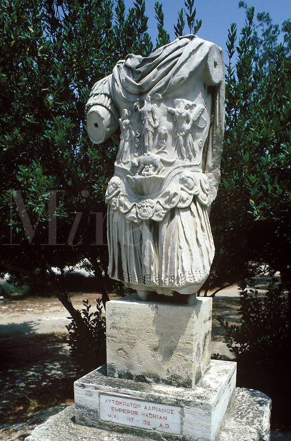 The Roman Emperor Hadrian was an admirer of Greek culture and accomplishments. These remains of a statue honoring him were near the Library he had built.
