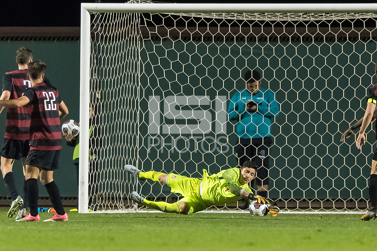Stanford, CA - November 26, 2017: Stanford defeats the Coastal Carolina Chanticleers 2-0 in a third round NCAA Tournament Men's soccer game at Laird Q. Cagan Stadium.