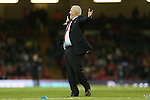 An animated Wales rugby coach Warren Gatland gestures to someone in the crowd.<br /> RBS 6 Nations 2014<br /> Wales v Italy<br /> Millennium Stadium<br /> 01.02.14<br /> <br /> &copy;Steve Pope-SPORTINGWALES