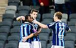 Stockholm 2015-03-05 Fotboll Svenska Cupen Djurg&aring;rdens IF - IFK Norrk&ouml;ping :  <br /> Djurg&aring;rdens Haris Radetinac firar sitt 3-0 m&aring;l med Amadou Jawo och Jesper Karlstr&ouml;m  under matchen mellan Djurg&aring;rdens IF och IFK Norrk&ouml;ping <br /> (Foto: Kenta J&ouml;nsson) Nyckelord:  Djurg&aring;rden DIF Tele2 Arena Svenska Cupen Cup IFK Norrk&ouml;ping Peking jubel gl&auml;dje lycka glad happy
