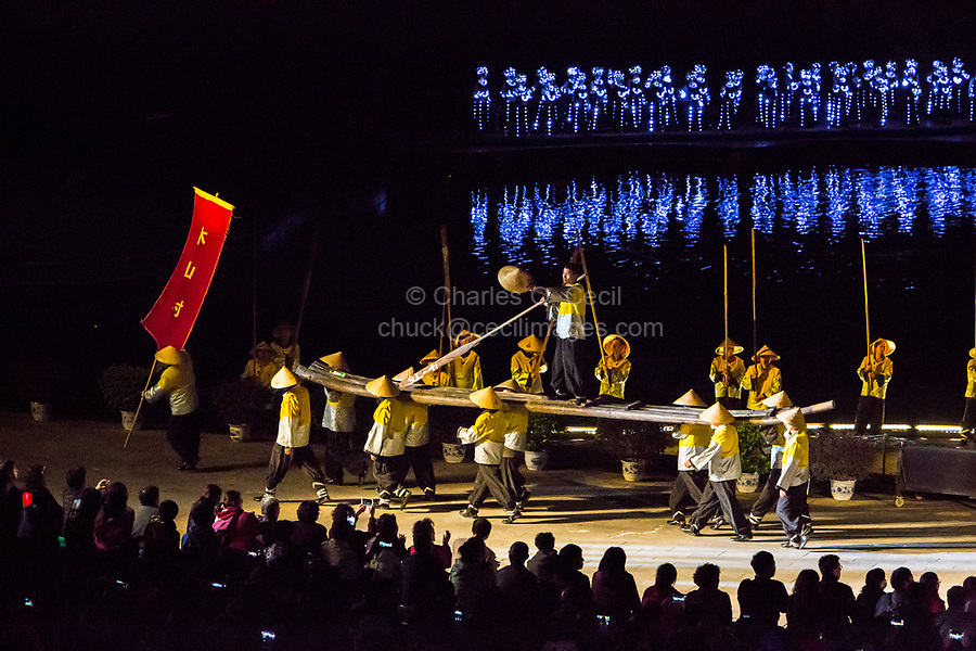 Yangshuo, China.  Finale, Impressions Liu Sanjie Theatrical Performance.