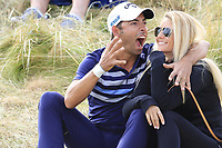 Pablo and Gala Larrazabal (ESP) at the 15th green during Friday's Round 2 of the 2018 Dubai Duty Free Irish Open, held at Ballyliffin Golf Club, Ireland. 6th July 2018.<br /> Picture: Eoin Clarke | Golffile<br /> <br /> <br /> All photos usage must carry mandatory copyright credit (&copy; Golffile | Eoin Clarke)