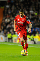 Sevilla's Vitolo during 2014-15 La Liga match between Real Madrid and Sevilla at Santiago Bernabeu stadium in Alcorcon, Madrid, Spain. February 04, 2015. (ALTERPHOTOS/Luis Fernandez) /NORTEphoto.com