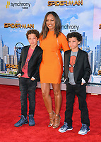 Garcelle Beauvais &amp; Sons at the world premiere for &quot;Spider-Man: Homecoming&quot; at the TCL Chinese Theatre, Los Angeles, USA 28 June  2017<br /> Picture: Paul Smith/Featureflash/SilverHub 0208 004 5359 sales@silverhubmedia.com