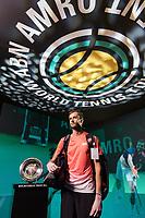 Rotterdam, The Netherlands, 13 Februari 2019, ABNAMRO World Tennis Tournament, Ahoy,  first round singles: Daniil Medvedev (RUS),<br /> Photo: www.tennisimages.com/Henk Koster