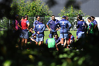 Team Huddle, <br /> Vodafone Warriors training session. Mt Smart Stadium, Auckland, New Zealand. NRL Rugby League. Tuesday 13 March 2018 &copy; Copyright photo: Andrew Cornaga / www.photosport.nz