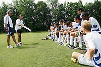 FC Dallas head coach Oscar Pareja. FC Dallas v Dallas Texans U17/18. 2009 US Soccer Development Academy Summer Showcase at Bryan Park Soccer Complex in Browns Summit, North Carolina, on June 26, 2008.