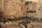 Israel, Lower Galilee, Crusader fortress Belvoir, the water cistern and laundry area