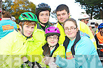 Enjoying the Ava's charity cycle in Killorglin on Sunday were Nora O'Sullivan Looney, Alicia Looney, Emer Looney Diggin, Aoife Looney and Eamon Looney.   ............