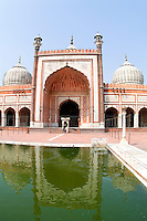 Muslim Mosque in Delhi India,  Jama Masjid, the largest in India