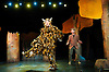 The Gruffalo<br /> based on the book by Julia Donaldson &amp; Axel Scheffler<br /> at the Lyric Theatre, London, Great Britain <br /> press photocall<br /> 21st November 2013 <br /> <br /> Tom Crook as The Gruffalo<br /> <br /> Susanna Jennings as Mouse<br /> <br /> Timothy Richey as the predators <br /> <br /> Photograph by Elliott Franks