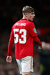 Brandon Williams of Manchester United during the Carabao Cup match at Old Trafford, Manchester. Picture date: 7th January 2020. Picture credit should read: Darren Staples/Sportimage