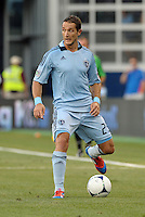 Neven Markovic (25) defender Sporting KC in action..Sporting Kansas City were defeated 3-0 by Montpellier HSC in an international friendly at LIVESTRONG Sporting Park, Kansas City, KS..
