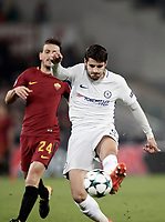 Football Soccer: UEFA Champions League AS Roma vs Chelsea Stadio Olimpico Rome, Italy, October 31, 2017. <br /> Chelsea's Alvaro Morata in action during the Uefa Champions League football soccer match between AS Roma and Chelsea at Rome's Olympic stadium, October 31, 2017.<br /> UPDATE IMAGES PRESS/Isabella Bonotto