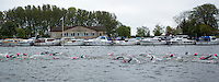 10 MAY 2015 - ST. NEOTS, GBR - Competitors swim along the Great Ouse during the 2015 British Sprint Triathlon Championships at Riverside Park in St. Neots, Great Britain (PHOTO COPYRIGHT © 2015 NIGEL FARROW, ALL RIGHTS RESERVED)