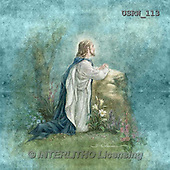 Randy, EASTER RELIGIOUS, OSTERN RELIGIÖS, PASCUA RELIGIOSA, paintings+++++Jesus-Praying-Gethsemene-blue,USRW113,#ER#