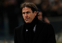 AS Roma's head coach Rudi Garcia   during the Champions League Group E soccer match between As Roma and Manchester City  at the Olympic Stadium in Rome December 10 , 2014.
