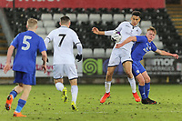Pictured: Ben Cabango of Swansea (3rd L). Tuesday 01 May 2018<br /> Re: Swansea U19 v Cardiff U19 FAW Youth Cup Final at the Liberty Stadium, Swansea, Wales, UK