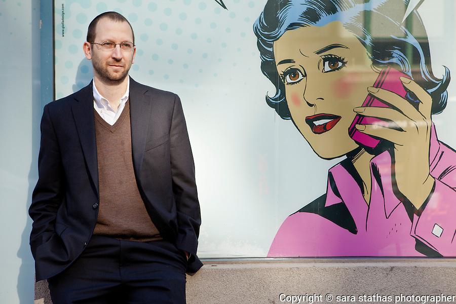 portrait of Daniel Schlanger, consumer lawyer at Schlanger & Schlanger, photographed near his office in lower Manhattan.