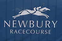 A racecourse sign during Racing at Newbury Racecourse on 12th April 2019