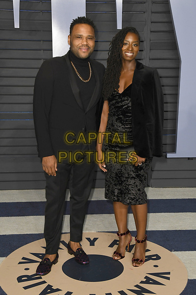 04 March 2018 - Los Angeles, California - Alvina Stewart, Anthony Anderson. 2018 Vanity Fair Oscar Party following the 90th Academy Awards held at the Wallis Annenberg Center for the Performing Arts. <br /> CAP/ADM/BT<br /> &copy;BT/ADM/Capital Pictures