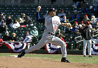 April 10, 2004:  /p/ Jason Frasor (20) of the Syracuse Sky Chiefs, Class-AAA International League affiliate of the Toronto Blue Jays, during a game at Frontier Field in Rochester, NY.  Photo by:  Mike Janes/Four Seam Images