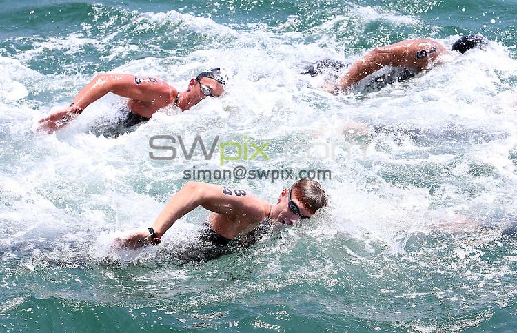 PICTURE BY VAUGHN RIDLEY/SWPIX.COM - Open Water - 15th FINA World Championships 2013 - Moll de la Fusta, Barcelona, Spain - 20/07/13 - Great Britain's Daniel Fogg competes in the Men's 10km.