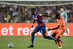 Crystal Palace midfielder Wilfried Zaha  (L) battles for the ball with Liverpool FC midfielder Georginio Wijnaldum (R)  during the Premier League Asia Trophy match between Liverpool FC and Crystal Palace FC at Hong Kong Stadium on 19 July 2017, in Hong Kong, China. Photo by Weixiang Lim / Power Sport Images