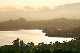 USA, California, Tiburon, elevated view of Richardson Bay with the Marin Headlands in the distance