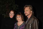 "The Young & The Restless stars Michelle Stafford ""Phyllis Summers"" and  Stephen Nichols ""Tucker McCall"" pose with a fan at the Meet & Greet wine tasting event a part of the Soap Opera Festivals Weekend - ""All About The Drama"" on March 24, 2012 at Bally's Atlantic City, Atlantic City, New Jersey.  (Photo by Sue Coflin/Max Photos)"