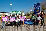 Teachers protesting at Listowel Community College on Tuesday last.