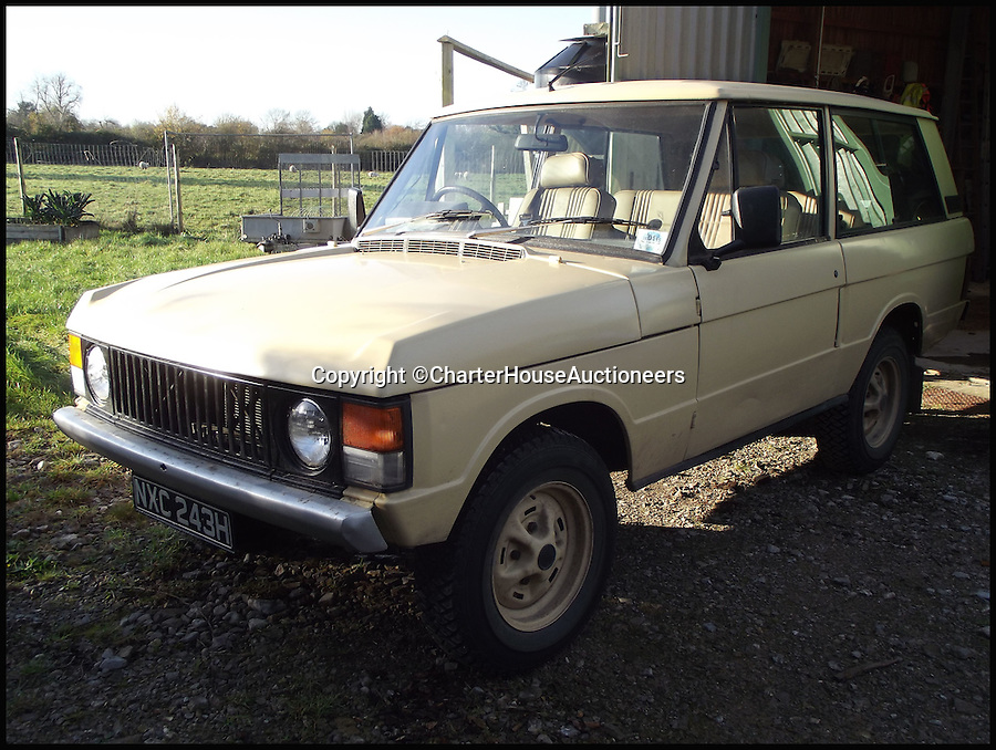 BNPS.co.uk (01202 55833)<br /> Pic: CharterHouseAuctioneers/BNPS<br /> <br /> ***Please Use Full Byline***<br /> <br /> The 1970 Range Rover Velar.<br /> <br /> An incredibly rare prototype of the very first Range Rover model has emerged for sale for &pound;30,000 more than 40 years after it was built.<br /> <br /> The much-lauded motor was one of just 40 initially built under the codename Velar, a brand set up by Land Rover to develop their now iconic Range Rover model in the late 60s.<br /> <br /> The Velar for sale - the 38th of the 40 made - is tipped to fetch &pound;30,000 when it goes under the hammer at Charterhouse Auctions in Sherborne, Dorset.