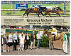 Gracious Victory winning at Delaware Park on 5/30/09