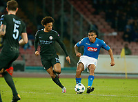 Miguel Allan Leroy Sane during the Champions League Group  soccer match between SSC Napoli - Manchester City   at the Stadio San Paolo in Naples 01 nov 2017
