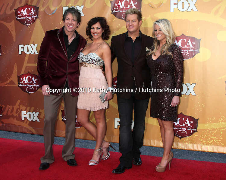 LOS ANGELES - DEC 6:  Joe Don Rooney & Tiffany Fallon, Gary LeVox & Wife arrives at the 2010 American Country Awards at MGM Grand Garden Arena on December 6, 2010 in Las Vegas, NV.