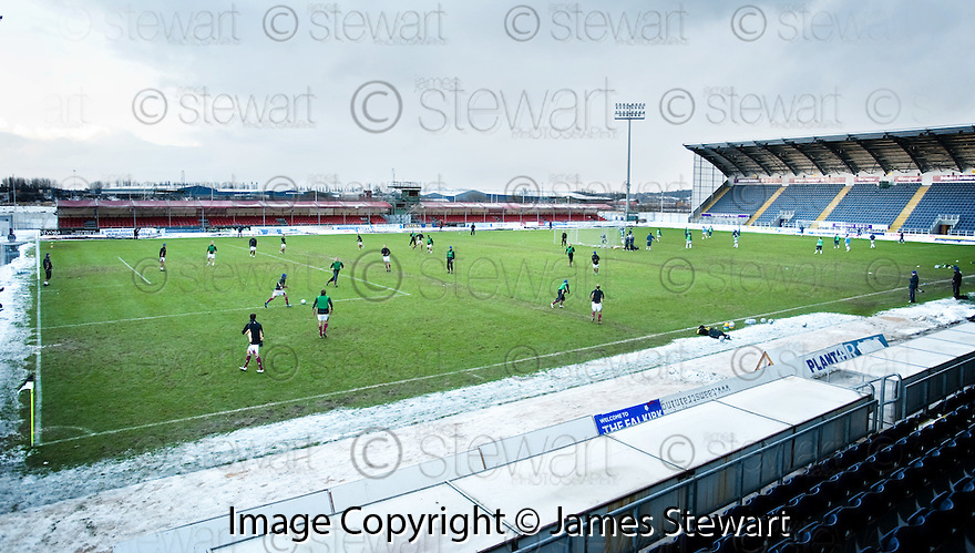 02/01/2010  Copyright  Pic : James Stewart.sct_jspa15_falkirk_v_st_johnstone  .:: ST JOHNSTONE AND FALKIRK PLAYER PLAY SEPARATE BOUNCE GAMES OF FOOTBALL ON THE PICTH DEEMED UNPLAYABLE BY REFEREE STEVIE O'REILLY :: .James Stewart Photography 19 Carronlea Drive, Falkirk. FK2 8DN      Vat Reg No. 607 6932 25.Telephone      : +44 (0)1324 570291 .Mobile              : +44 (0)7721 416997.E-mail  :  jim@jspa.co.uk.If you require further information then contact Jim Stewart on any of the numbers above.........